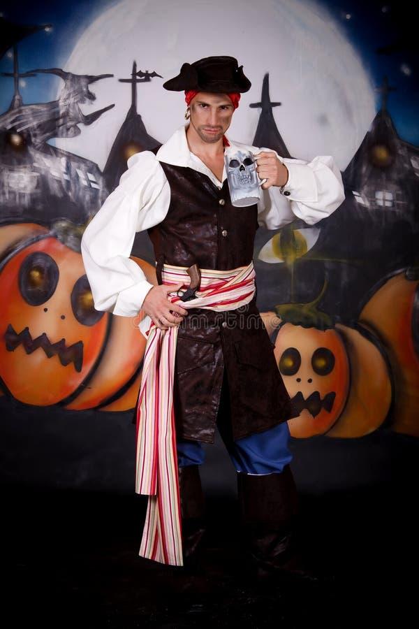 Pirata de Halloween imagem de stock
