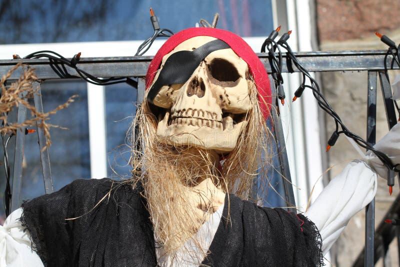 Pirata de Halloween fotografia de stock