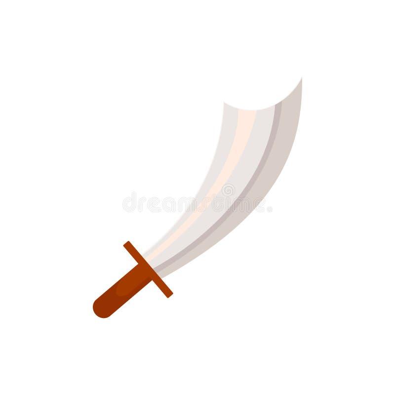 Pirata de la historieta, machete medieval del corsario, espada stock de ilustración