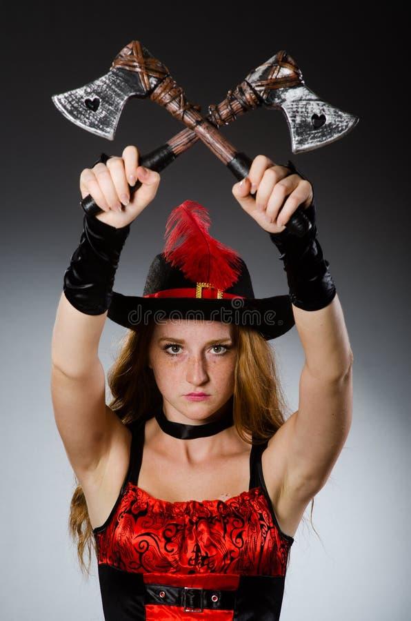 Pirata de la mujer fotografía de archivo