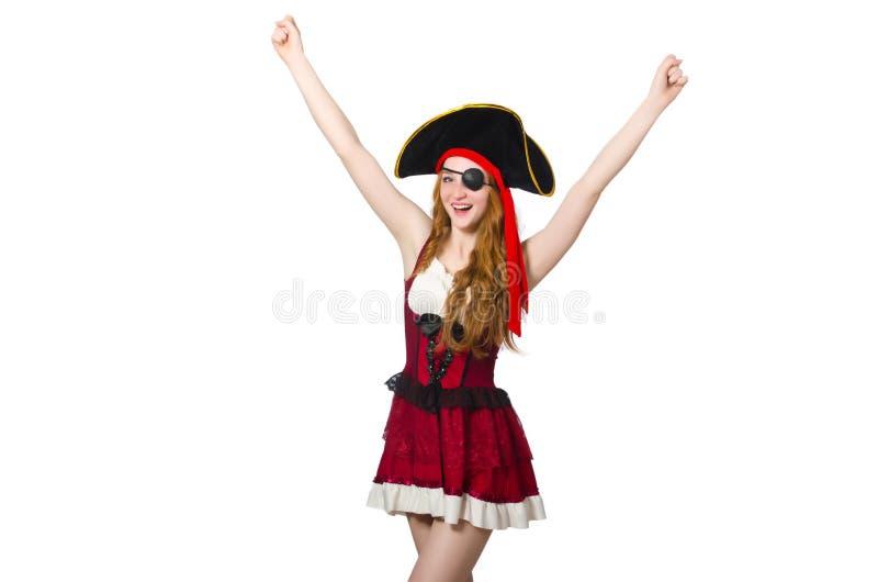Download Pirata de la mujer aislado foto de archivo. Imagen de hermoso - 41916152