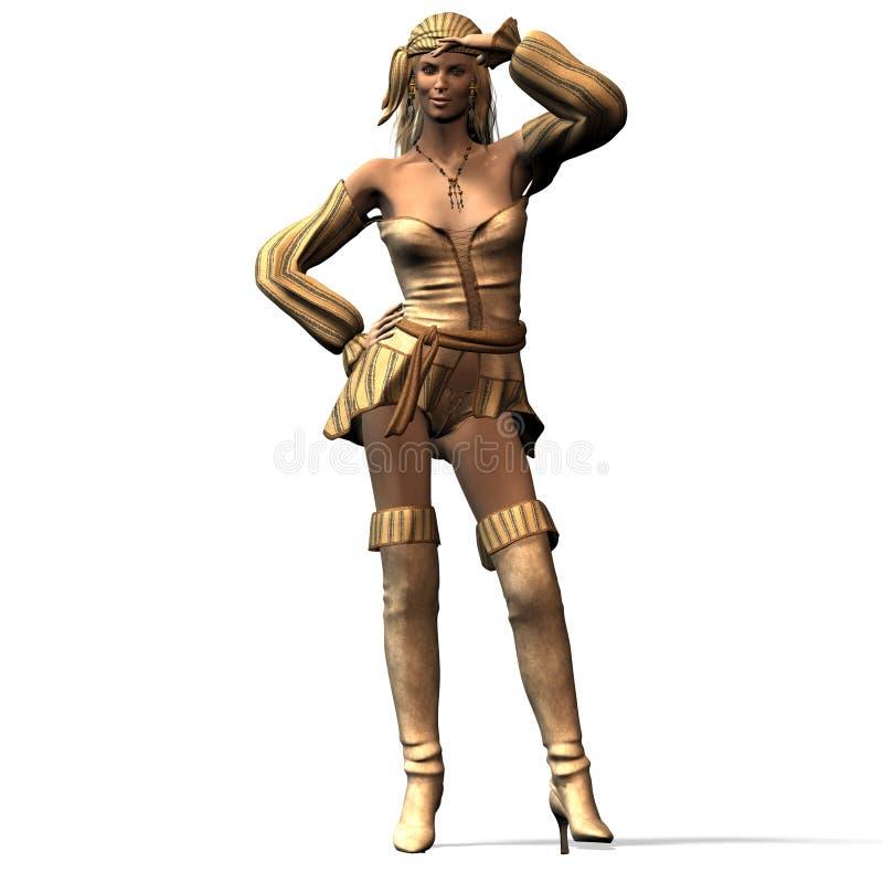 Pirata de sexo femenino No. 1 stock de ilustración