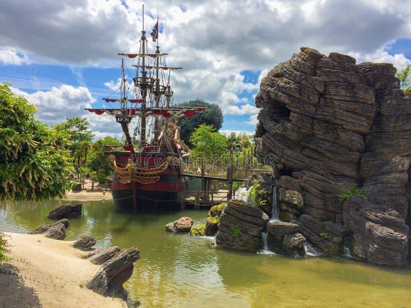 Pirata del tema caraibico fotografie stock libere da diritti