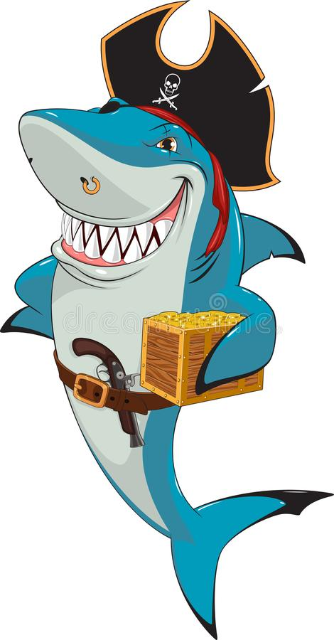 Pirata del tiburón blanco libre illustration