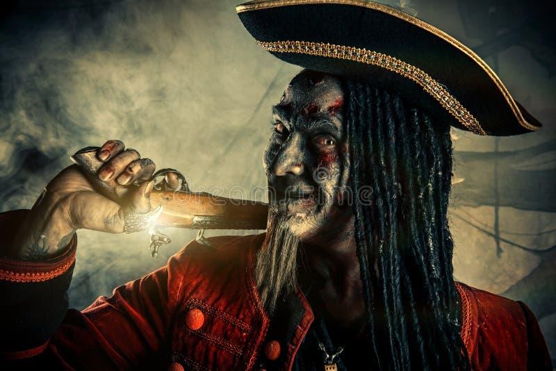 Pirata dello zombie del non morto fotografie stock