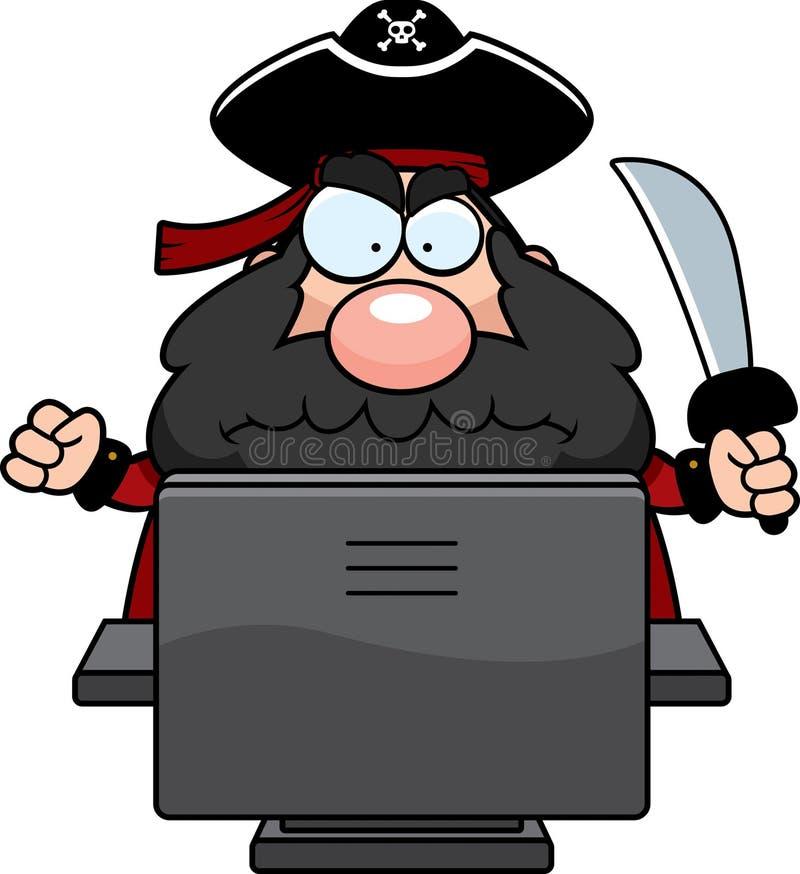 Pirata do computador ilustração royalty free