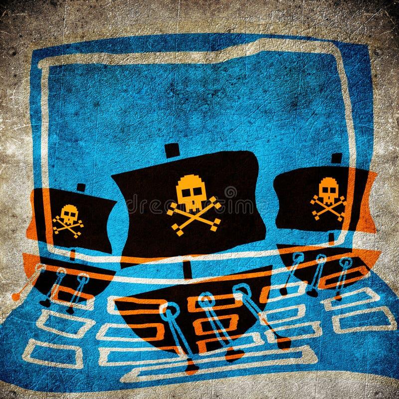 Pirata do computador ilustração do vetor