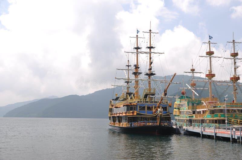 Pirata do lago Ashi imagens de stock