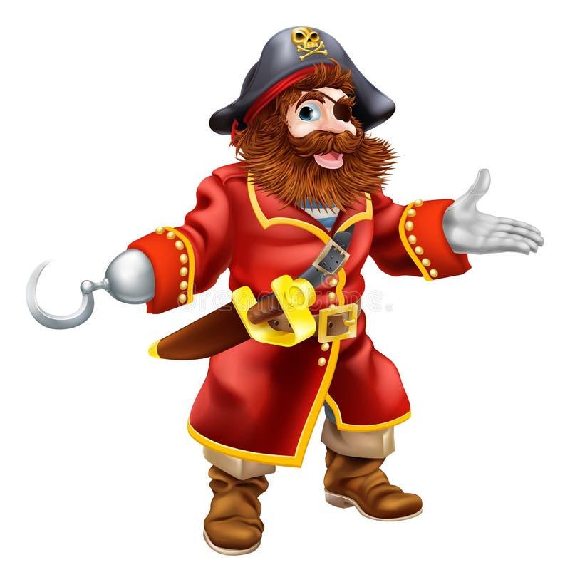 Pirata dos desenhos animados ilustração royalty free