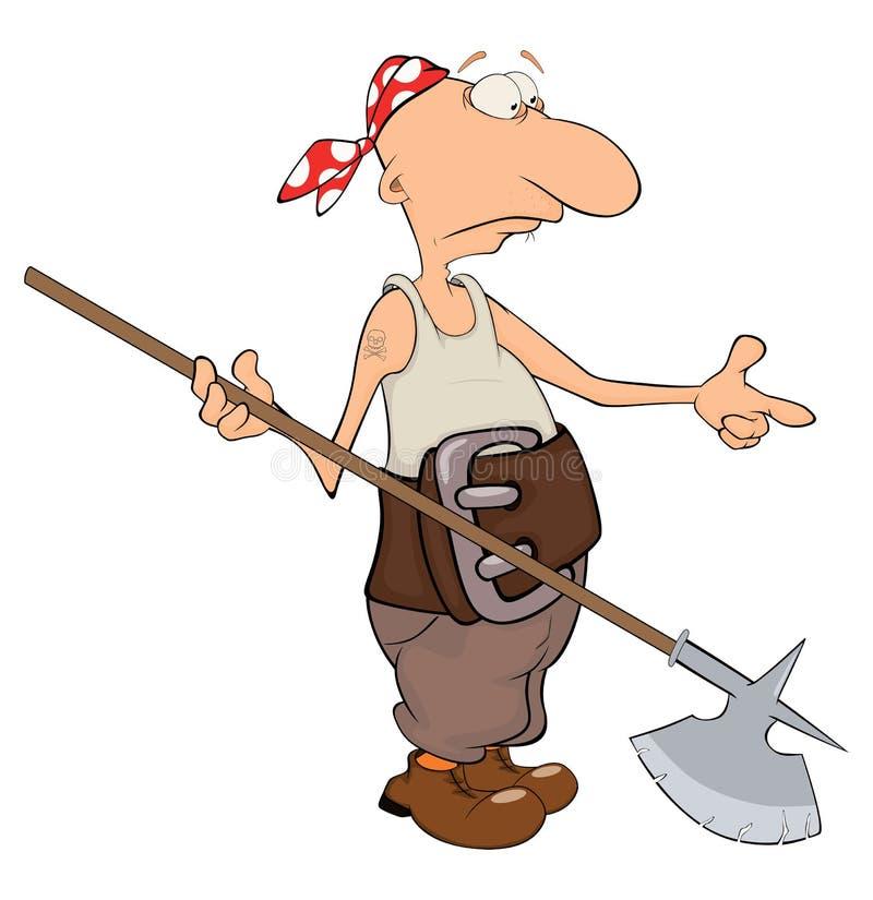 Pirata dos desenhos animados ilustração do vetor