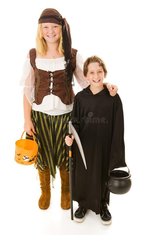 Pirata e Reaper de Halloween imagens de stock royalty free
