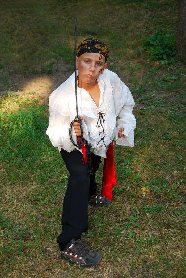Pirata el Víspera de Todos los Santos fotos de archivo libres de regalías
