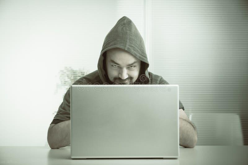 Pirata informatico di computer fotografia stock libera da diritti