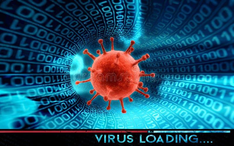 Pirata informatico e virus informatico - concetto fotografie stock