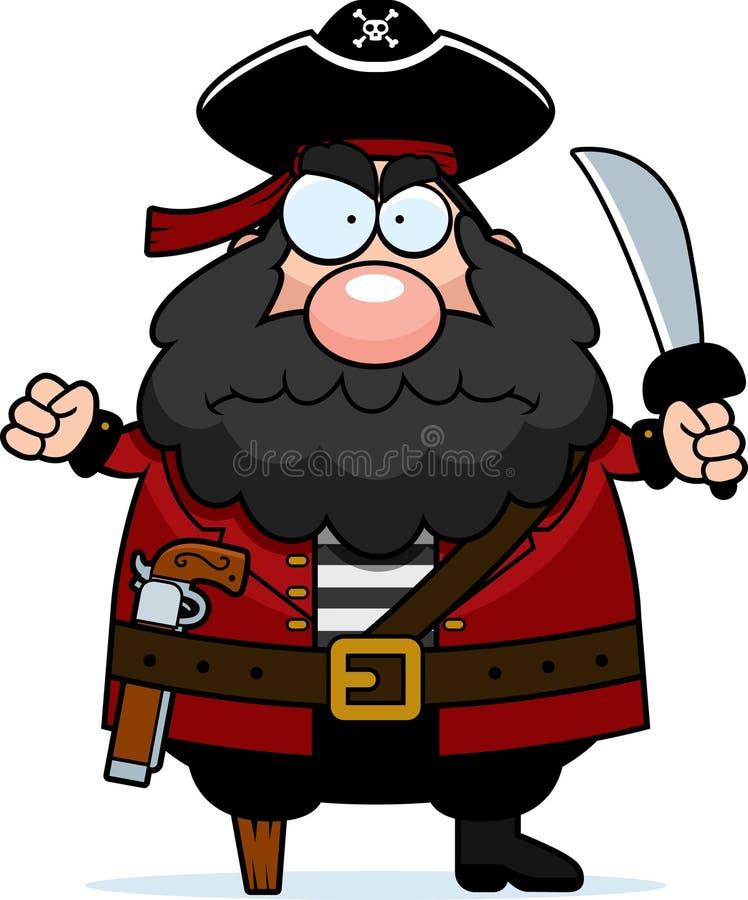 Pirata irritado ilustração do vetor