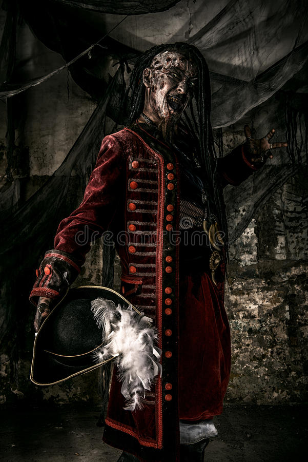 Pirata morto coraggioso del nobile fotografia stock