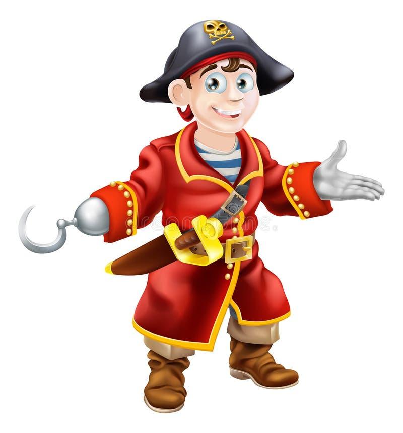 Pirata novo dos desenhos animados ilustração royalty free