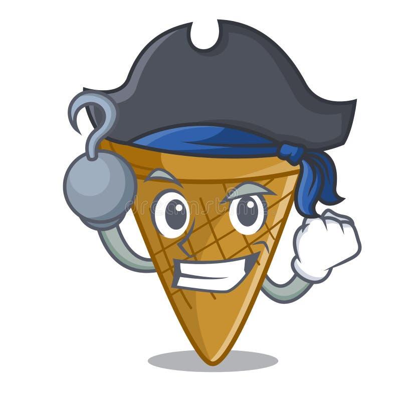 Pirata opłatka rożka charakteru kreskówka ilustracji