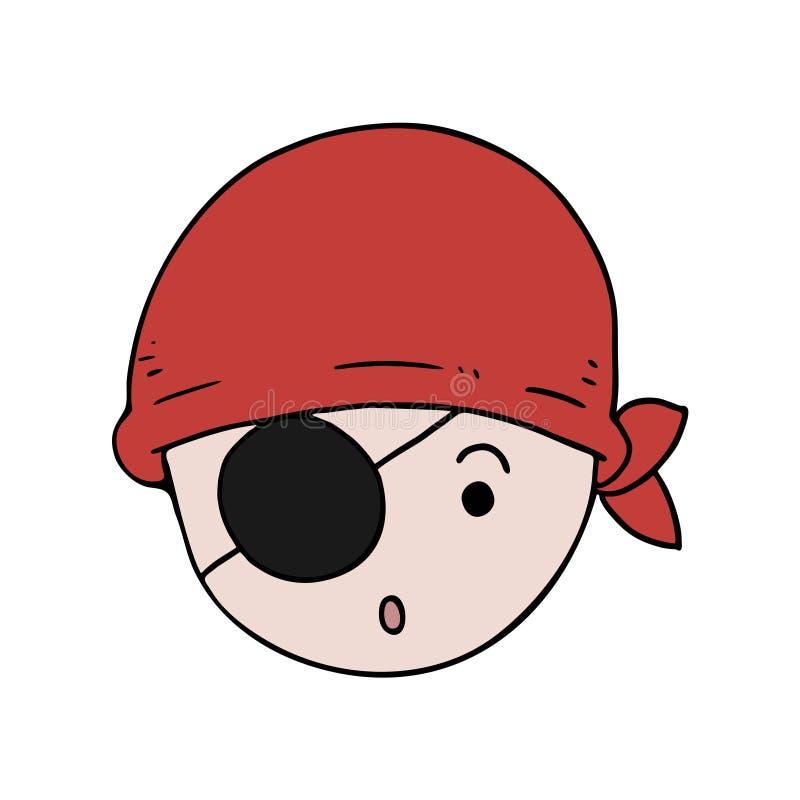 Pirata pequeno engraçado ilustração stock