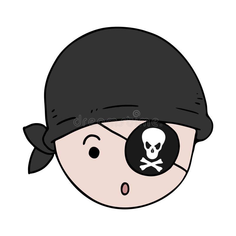 Pirata pequeno engraçado ilustração royalty free