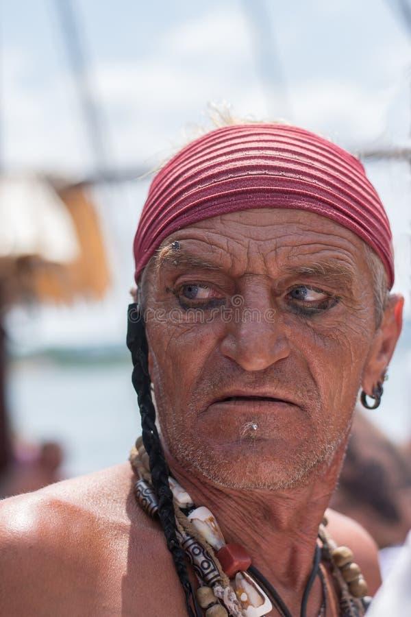 pirata Retrato del viejo hombre imagen de archivo libre de regalías