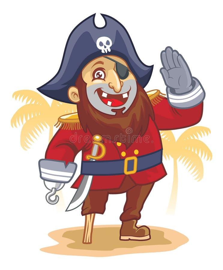 Pirata salut ilustracja wektor