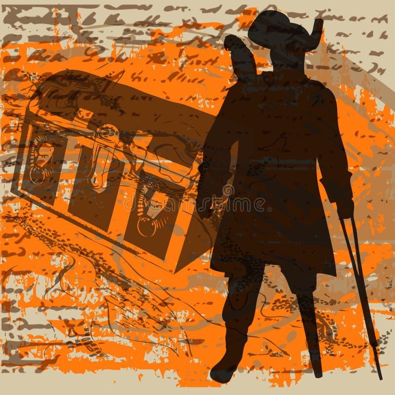 pirata skarb ilustracja wektor