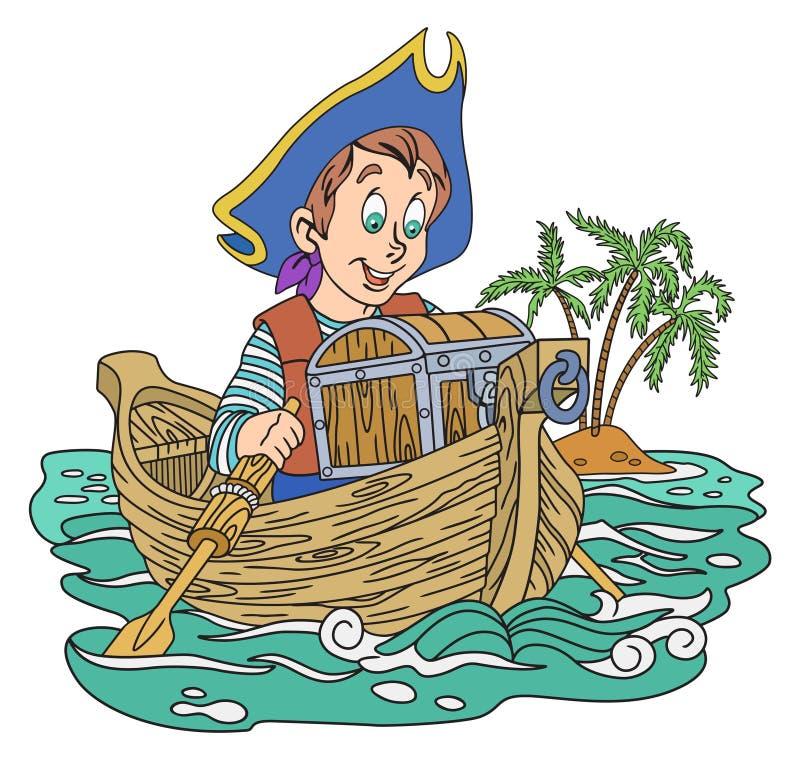 pirata skarb royalty ilustracja