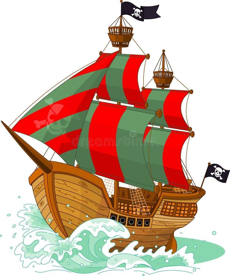 pirata statek ilustracja wektor