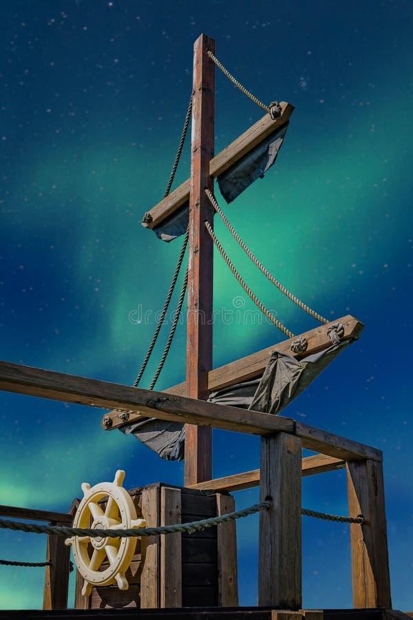 Pirata statku pokład obrazy royalty free