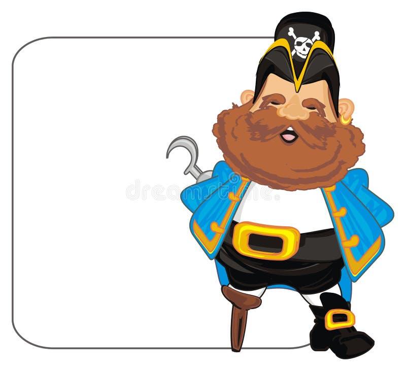 Pirata y cartel limpio stock de ilustración