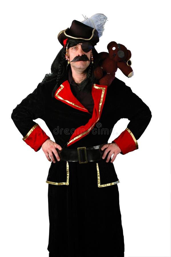 Pirata y oso imágenes de archivo libres de regalías