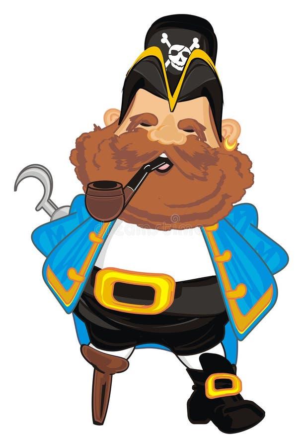 Pirata y tubo stock de ilustración
