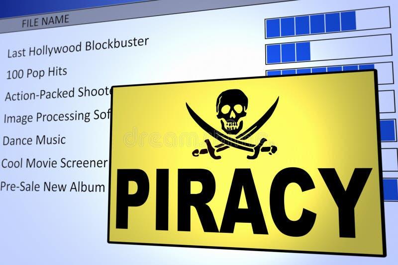 Piratage d'ordinateur illustration libre de droits