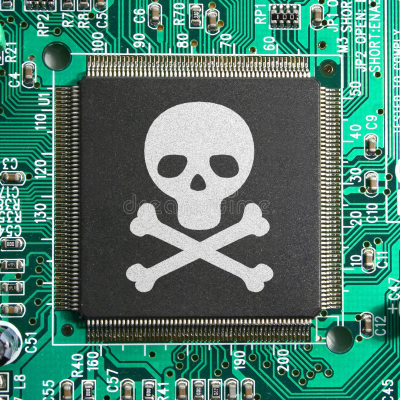 Piratage de Cyber photographie stock