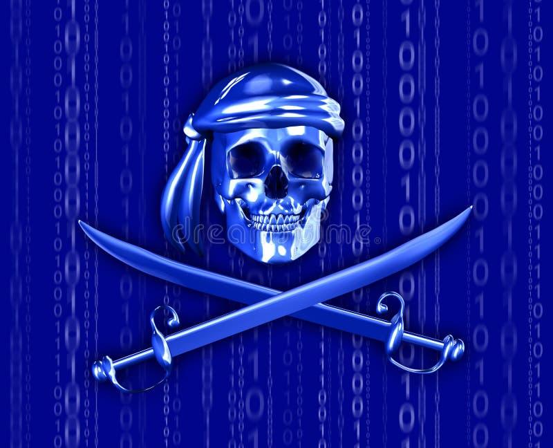 Piratage de Digitals avec la cascade binaire illustration de vecteur