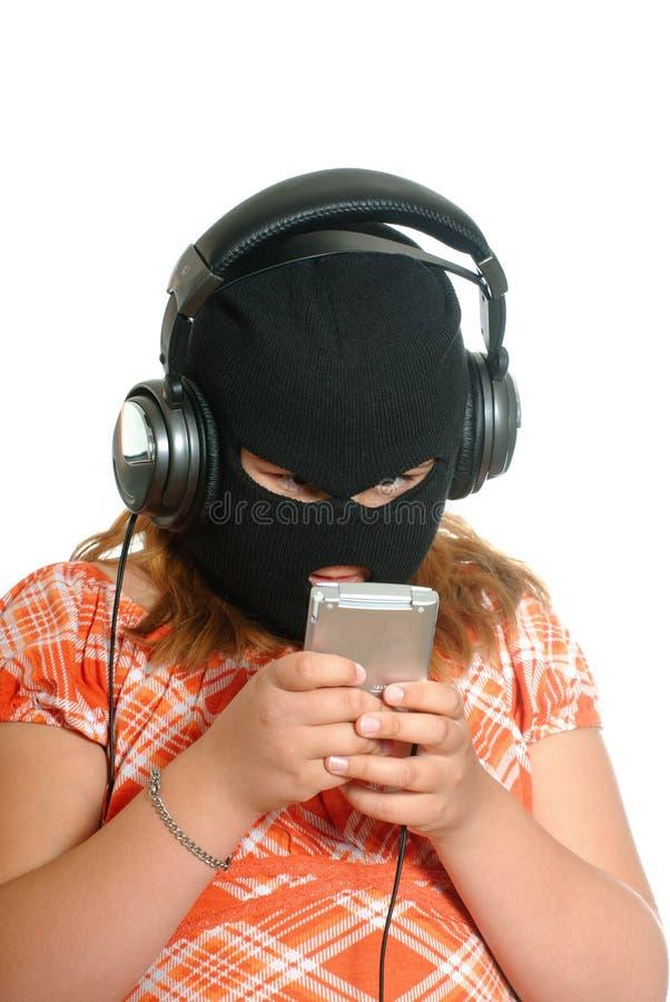 Piratage de musique photographie stock