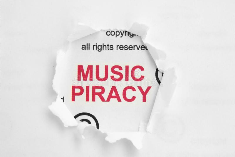 Piratage de musique photographie stock libre de droits