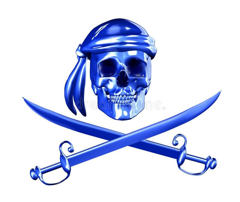 Pirataria de Digitas - com trajeto de grampeamento ilustração do vetor