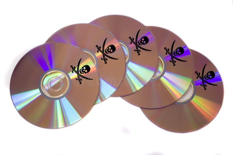 Pirataria de software imagens de stock
