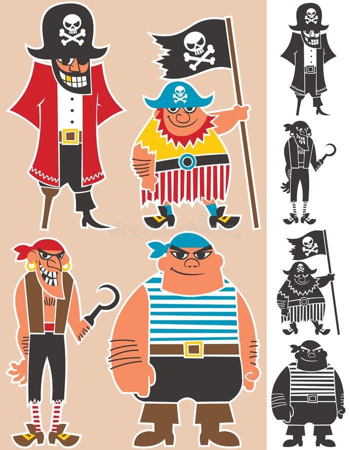 Piratas ilustração do vetor