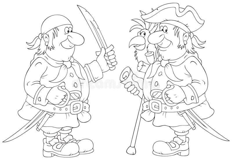 Piratas ilustração stock