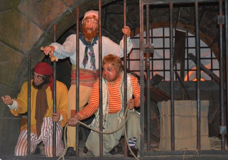 Piratas do filme das caraíbas - passeio do parque de Walt Disney - reino mágico fotografia de stock