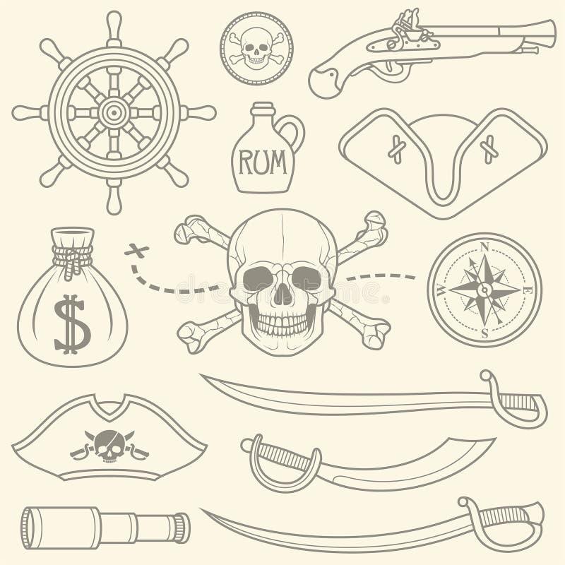 Piratas fijados libre illustration
