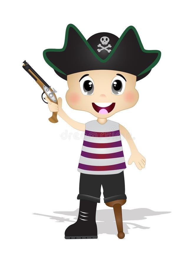 Piratas lindos ilustración del vector