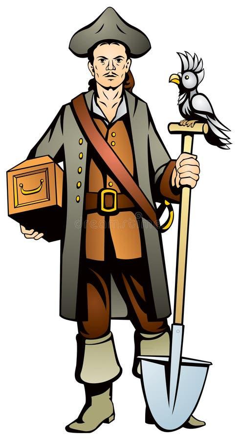 Download Pirate stock vector. Image of treasure, parrot, secrets - 15909152