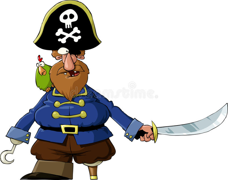Download Pirate stock vector. Image of cartoon, beard, draw, historic - 20351126