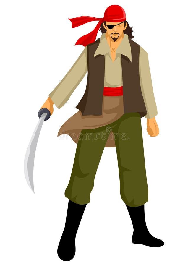 Download Pirate stock vector. Image of costume, legend, criminal - 27823419