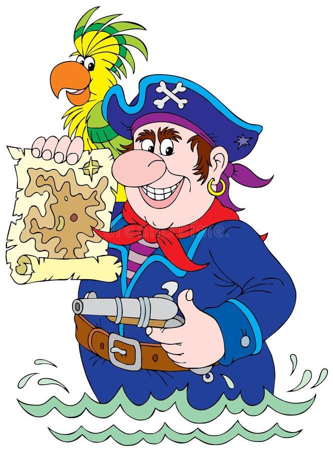 Pirate illustration de vecteur