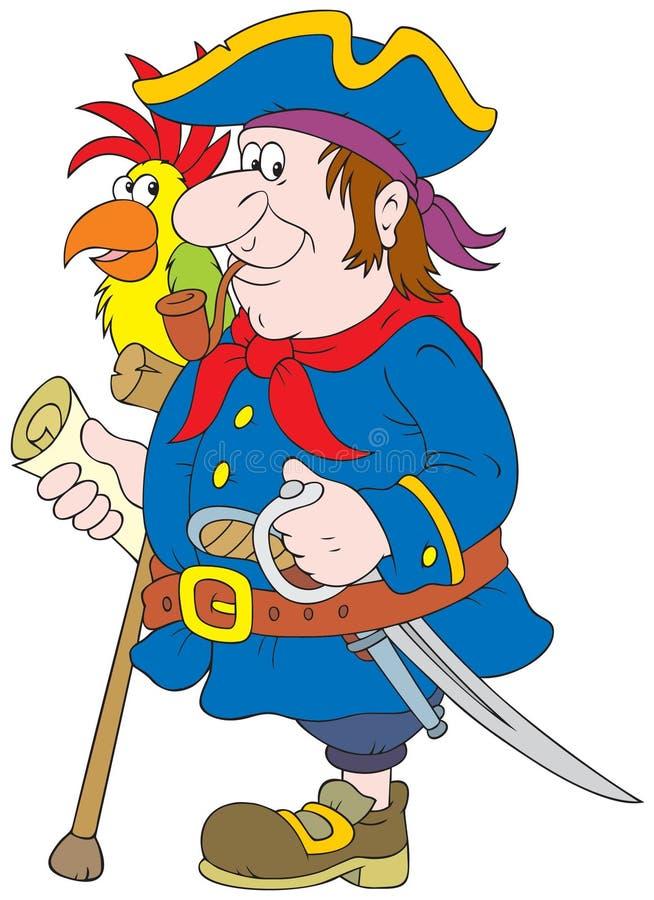 pirate illustration stock